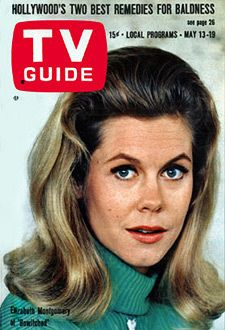 "TV Guide May 13, 1967.  Elizabeth Montgomery as Samantha Stevens in ""Bewitched""."