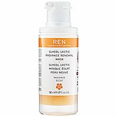 REN - Glycol Lactic Radiance Renewal Mask: Best stuff ever.  I, Sandi, fully recommend this product as a beauty must-have