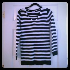 V neck black and white straps sweater 95% new. Bought from Asos this year ASOS Sweaters V-Necks