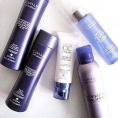 A collection of Alterna Haircare Caviar products