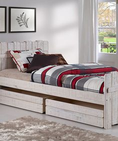 This Tree House Twin Bed With Drawers is perfect! #zulilyfinds