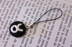 Strap, bijoux de téléphone portable, signe astrologique taureau en Fimo
