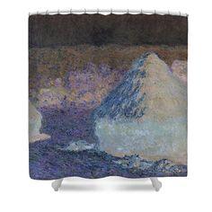 David Bridburg Shower Curtain featuring the digital art Inv Blend 8 Monet by David Bridburg