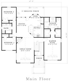 House Plan 62342 Level One