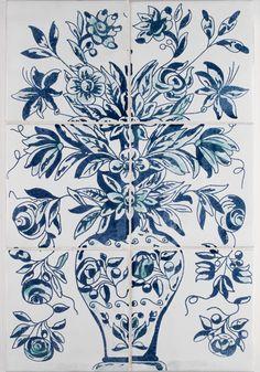 Portuguese Flower Pot tile from arto tile