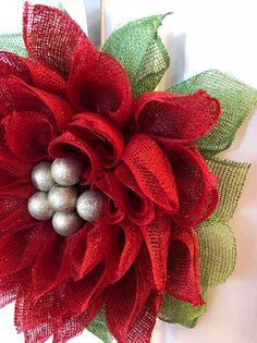 Items similar to Christmas poinsettia poly burlap everyday wreath on Etsy Christmas Lights Garland, Christmas Mesh Wreaths, Christmas Poinsettia, Christmas Bows, Christmas Centerpieces, Christmas Decorations, Christmas Quilting, Holiday Decorating, Decorating Ideas