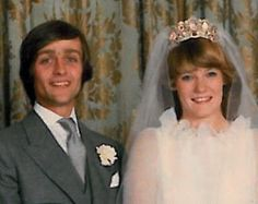 Gerald Grosvenor, Earl Grosvenor and Natalia Philips on their wedding day, October, 1978.