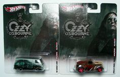 HOT WHEELS OZZY OSBOURNE LOT OF 2 CARS REAL RIDERS COLLECTORS EDITION LIMITED, $16.88