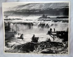 Celilo Fall, Columbia River, what a shame!!!!! It is all gone, submerged under water due to the dam. Makes me SO sad! My dad was going to Pendleton, Oregon for cub scouts and drove by it was there; and the next day he came by it to go home and it was under water. Native American Indian fishermen. What a crying shame it is gone!