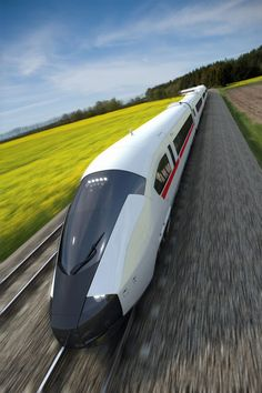 A high speed train concept designed to exploit a character appropriate for central European aesthetic values. The design language reinforces the sensation of strength and durability combined with a fluid, organic form.