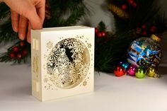 Pop Up Cards – Magiс 3D card. SnowFlake – a unique product by ColibriGift on DaWanda