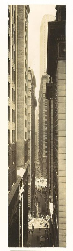 1933: Exchange Place by Berenice Abbott (years of the great depression 1929-1939)