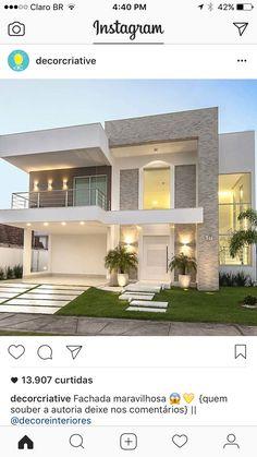 Modern home design Home Building Design, Modern Exterior House Designs, Modern Style House Plans, Modern House Design, Small House Design, Modern House Facades, House Front Design, House Exterior