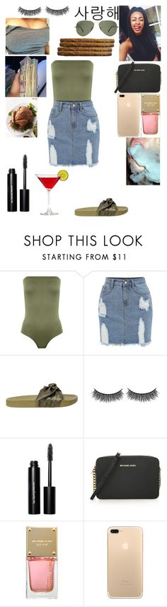 """""""Mhm"""" by miss-lelee-swagg ❤ liked on Polyvore featuring WearAll, Puma, Battington, Bobbi Brown Cosmetics, MICHAEL Michael Kors and Michael Kors"""