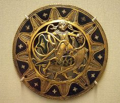 """Medieval medalion, circa 13th century, Limoge, France. In the V  by Kotomicreations, via Flickr. I'm putting in under """"High Medieval"""" because the style and aesthetic sense are more 14th century than 13th, I think."""