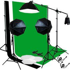 Photo Studio Backdrop BWG 3 Color Muslin Softbox Video Lighting Photography Kit #JuliusStudio