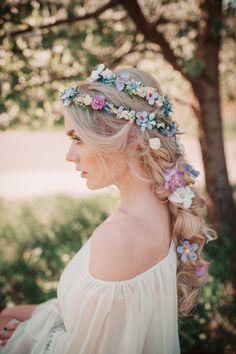 Romantic purple lavender flower wedding hair accessory – Famous Last Words Romantic Wedding Hair, Wedding Hair Pins, Wedding Hair Flowers, Wedding Hair Accessories, Flowers In Hair, Bridal Hair, Flower Hair, Bridal Crown, Wedding Greenery