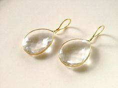 Claire Crystal Quartz Tear Drop Earrings