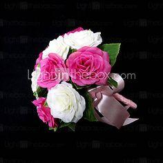 Gorgeous Round Shape Satin Wedding Bouquet