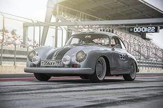 Silver Porsche 356А