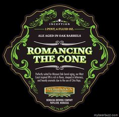 Nebraska Brewing –Inception Series Romancing the Cone & Ugly Betty