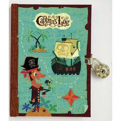 Dagboek Captain's Log met slot, Mudpuppy