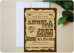 Urbanity Studios Old Western Poster Wedding Invitation