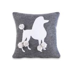 Felt Poodle Pillow Cover. $55.00, via Etsy.