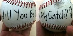Cute way to ask your baseball babe to Prom :)