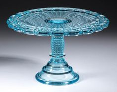 "EAPG ""THOUSAND EYE"" pattern #130 Cake Stand made by Adams & Co. circa 1891, small size 10.25""D x 6 3/8""H"