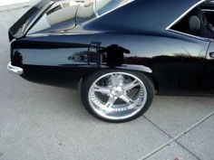 69 Camaro 555 BBC black with billet wheels black rivets / bolts on wheels