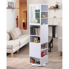 Enitial Lab YNJ-228-2 Demitri Rotating Display Cabinet/Bookshelf