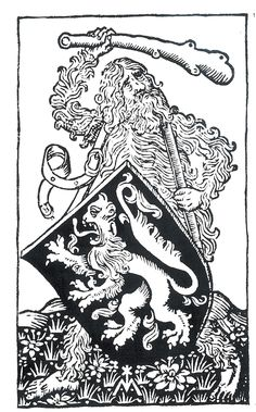 Wild man depiction from 1487.
