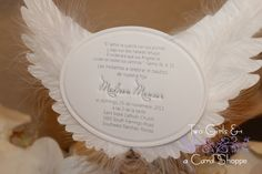 Angel or Stork Wings Invitation | CardShoppe - Cards on ArtFire