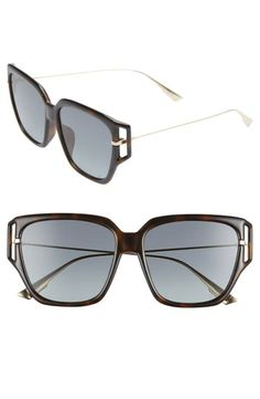 Dior Directi Special Fit Sunglasses In Dkhavana/ Grey Sun Protection, World Of Fashion, Sunglasses Accessories, Luxury Branding, Dior, Nordstrom, Detail, Grey, Products