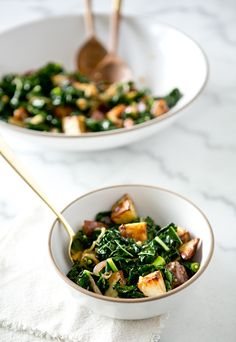 wilted kale & roasted potato salad / a house in the hills