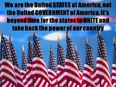 We are the United States of America not the United Government of America | Anonymous ART of Revolution