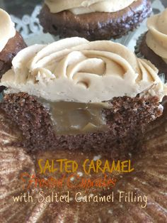 Purple Chocolat Home: Salted Caramel Frosted Cupcakes with Salted Caramel Filling