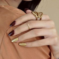 Brass engraved nails by K/ller just in at bonadrag
