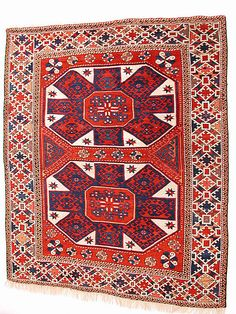 Carpet    Date:      19th century  Geography:      Turkey  Medium:      Wool (warp, weft and pile); symmetrically knotted pile  Dimensions:      Rug: L. 75 1/2 in. (191.8 cm) W. 57 3/4 in. (146.7 cm)  Classification:      Textiles