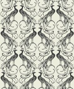 Peacock flock wallpaper by Holden £69.99 a roll