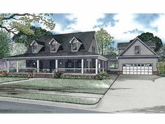 Dutch House Plan with 2889 Square Feet and 4 Bedrooms from Dream Home Source | House Plan Code DHSW62941