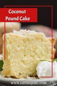 Coconut Pound Cakes, Coconut Desserts, Pound Cake Recipes, Coconut Recipes, Easy Desserts, Delicious Desserts, Dessert Recipes, Yummy Food, Cream Cheese Pound Cake