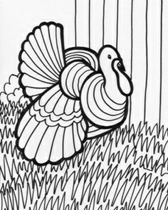 Planse de colorat animale domestice Curcan Farm animals for kids Turkey Pattern, Halloween Pictures, Color Activities, Digi Stamps, Thanksgiving Crafts, Coloring Book Pages, Black And White Pictures, Colorful Pictures, Line Drawing