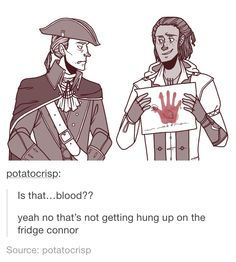 Haytham and Connor Kenway humor
