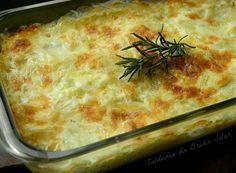 Gratinado rápido de batatas e cebolas do Jamie Oliver