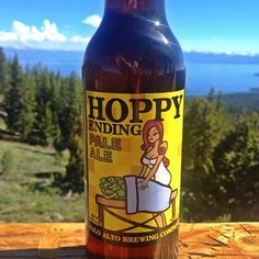 """Hoppy Ending Pale Ale"" from Palo Alto Brewing Company 