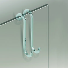 Windisch 85031 By Nameek's Shower Compliments Over the Door Chrome or Gold Shower Hook - TheBathOutlet Gold Shower, Glass Shower, Brass Bathroom, Bathroom Hooks, Master Bathroom, Bathroom Accessories Luxury, Gold Chrome, Towel Hooks, Black Walls