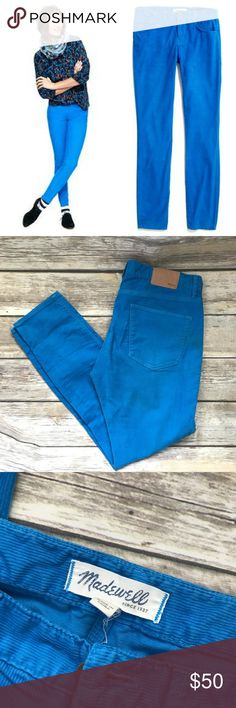 Madewell : skinny skinny ankle cords in blue Super slim and super-stretchy fit, flatteringly cropped at the ankle. Size: 27, Color: Blue. 💙 No holds or trades. Open to offers! Bundle to save. Madewell Pants Ankle & Cropped