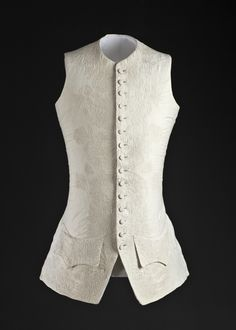 Man's Waistcoat Possibly England, circa 1760 Cotton plain weave with cotton corded quilting LACMA Collections